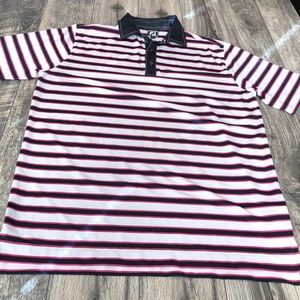 Footjoy Athletic fit striped polo